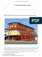 Indiana Psychologists Continuing Education Requirements