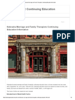 Nebraska Marriage and Family Therapists Continuing Education Information
