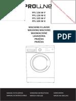 Proline Washing Machine Manual