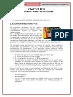 p8, Anhidrido Sulfuroso Libre