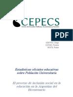 Estadísticas educativas sobre población universitaria - CEPECS