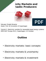 ElectricityMarketsAndStochasticProducers Tutorial