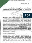 História Das Disciplinas Escolares - Reflexões Sobre Um Campo de Pesquisa - André Chervel