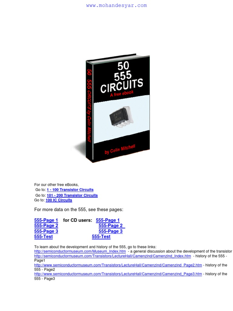 50 Circuits With Ic 555 Electronic Electrical This Schematic Uses The Timer And 4017 To Drive 3 Led