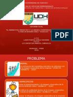 Diapositivas para la sustentación del informe