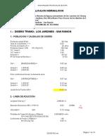 Cálculos Hidráulicos Linea de Conduccion