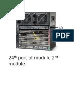 24th Port of Module 2nd Module