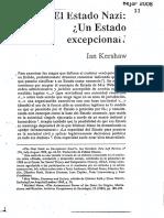 Kershaw Ian, El Estado Nazi Un Estado Excepcional
