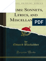 Poems Sonnets Lyrics and Miscellaneous