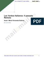 Los Verbos Italianos - Il Passato Remoto