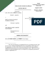 Tri-State Truck Insurance, LTD v. First National Bank of Wamego, 10th Cir. (2013)