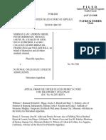 Law v. National Collegiate, 134 F.3d 1438, 10th Cir. (1998)
