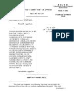 Westfall v. United States Distri, 10th Cir. (2002)