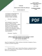 CO Eniv. Coalition v. Wenker, 353 F.3d 1221, 10th Cir. (2004)