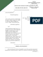 Barton v. City/County Denver, 10th Cir. (2007)