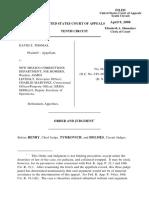 Thomas v. NM Corrections, 10th Cir. (2008)