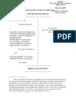 Hindbaugh v. Washita County Board of County, 10th Cir. (2009)