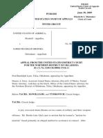 United States v. Brooks, 569 F.3d 1284, 10th Cir. (2009)