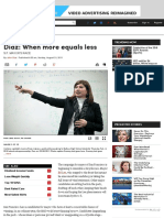 Diaz When More Equals Less