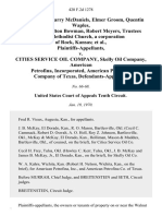 Rudy Davis, Harry McDaniels Elmer Groom, Quentin Waples, Clem Wise, Milton Bowman, Robert Meyers, Trustees of the Methodist Church, a Corporation of Rock, Kansas v. Cities Service Oil Company, Skelly Oil Company, American Petrofina, Incorporated, American Petrofina Company of Texas, 420 F.2d 1278, 10th Cir. (1970)