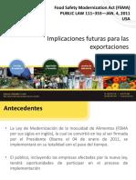 La Ley de Modernización de la Inocuidad de Alimentos