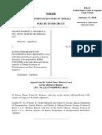 Martin Marietta Materials v. Kansas DOT, 10th Cir. (2016)