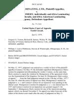 Century Laminating, Ltd. v. Steven H. Montgomery, Individually and D/B/A Laminating Company of Colorado, and D/B/A American Laminating Company, 595 F.2d 563, 10th Cir. (1979)