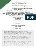 Sanguine, Ltd. v. United States Department of the Interior, Bureau of Indian Affairs, United States Geological Survey, Stanley Speaks, and F.L. Stelzer, Defendants- Delra M. Toohey, Mae Lamar Davis, Imogene Birch, Eva Lois Warden, Richard Guy, Wildena F. Guy Moffer, Willard B. Guy, Berdena Holder and Ronnie F. Birch, Sr., Movants-In- Intervention, 736 F.2d 1416, 10th Cir. (1984)