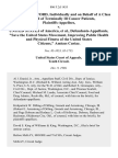 """Glen L. Rutherford, Individually and on Behalf of a Class Composed of Terminally Ill Cancer Patients v. United States of America, """"Save the United States Movement, Improving Public Health and Physical Fitness of the United States Citizens,"""" Amicus Curiae, 806 F.2d 1455, 10th Cir. (1986)"""