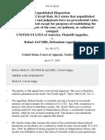 United States v. Rafael Jacobs, 931 F.2d 63, 10th Cir. (1991)