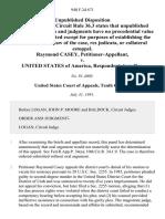 Raymond Casey v. United States, 940 F.2d 671, 10th Cir. (1991)