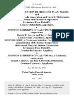 Steiner Corporation Retirement Plan, and Steiner Corp., a Nevada Corporation, and Carol S. McCormick Administrator of the Steiner Corporation Retirement Plan, Counter-Defendants v. Johnson & Higgins of California, a California Corporation, Donald F. Reeves, and Roy J. Bertoldo, Counterclaim Steiner Corp., a Nevada Corporation, Carol S. McCormick Administrator of the Steiner Corporation Retirement Plan, and Steiner Corporation Retirement Plan, Counter-Defendants v. Johnson & Higgins of California, a California Corporation, Donald F. Reeves, and Roy J. Bertoldo, Counter-Claimants, 31 F.3d 935, 10th Cir. (1994)