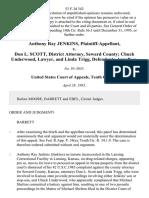 Anthony Ray Jenkins v. Don L. Scott, District Attorney, Seward County Chuck Underwood, Lawyer, and Linda Trigg, 53 F.3d 342, 10th Cir. (1995)