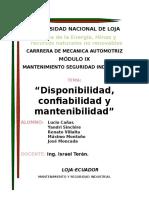 Disponibilidad, Confiabilidad y Mantenibilidad