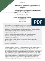 Joseph Anthony Bennett, Petitioner-Appellant/cross-Appellee v. United States Parole Commission, Respondent-Appellee/cross-Appellant, 83 F.3d 324, 10th Cir. (1996)