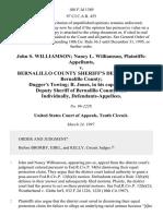 John S. Williamson Nancy L. Williamson v. Bernalillo County Sheriff's Department Bernalillo County Dugger's Towing R. Jones, in His Capacity as a Deputy Sheriff of Bernalillo County, and Individually, 108 F.3d 1389, 10th Cir. (1997)