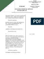 Western Energy Alliance v. Salazar, 10th Cir. (2013)