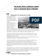 Participación de Ilo, Perú y América Latina en la Primea y Segunda Guerra Mundial
