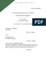 Anthony T. Barrios v. Regions Bank, 11th Cir. (2014)
