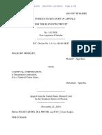Mallory Moseley v. Carnival Corporation, 11th Cir. (2014)