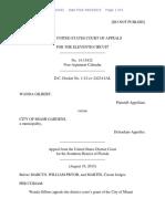 Wanda Gilbert v. City of Miami Gardens, 11th Cir. (2015)