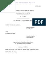 United States v. Sean Eric Slaton, 11th Cir. (2015)