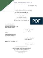 Felicia D. Thomas v. James Paul Clinton, 11th Cir. (2015)