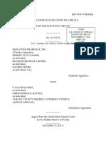Signature Pharmacy, Inc. v. P. Soares, 11th Cir. (2011)