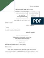 Yancey v. Clark Atlanta University, 11th Cir. (2011)