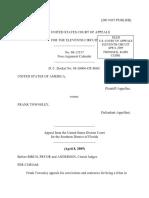United States v. Frank Townsley, 11th Cir. (2009)