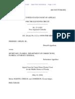 Freddie J. Siplen, Jr. v. Secretary, Department of Corrections, 11th Cir. (2016)