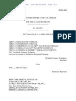 AllState Insurance Company v. Sara C. Vizcay, 11th Cir. (2016)