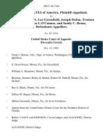 United States v. Irvin Freedman, Leo Greenfield, Joseph Stefan, Truman Skinner, John J. O'connor, and Sandy C. Brous, 688 F.2d 1364, 11th Cir. (1982)