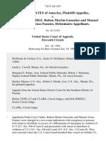United States v. Pedro Cruz-Valdez, Ruben Martin-Gonzalez and Manuel Fortunado Ariza-Fuentes, 743 F.2d 1547, 11th Cir. (1985)